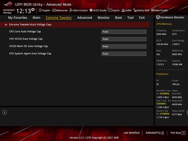 Asus Maximus XIII APEX: Krotíme Core i7-11700KF undervolt