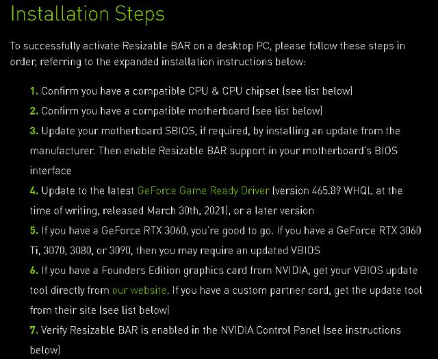 Resizable BAR na všech GeForce RTX 30 je tu
