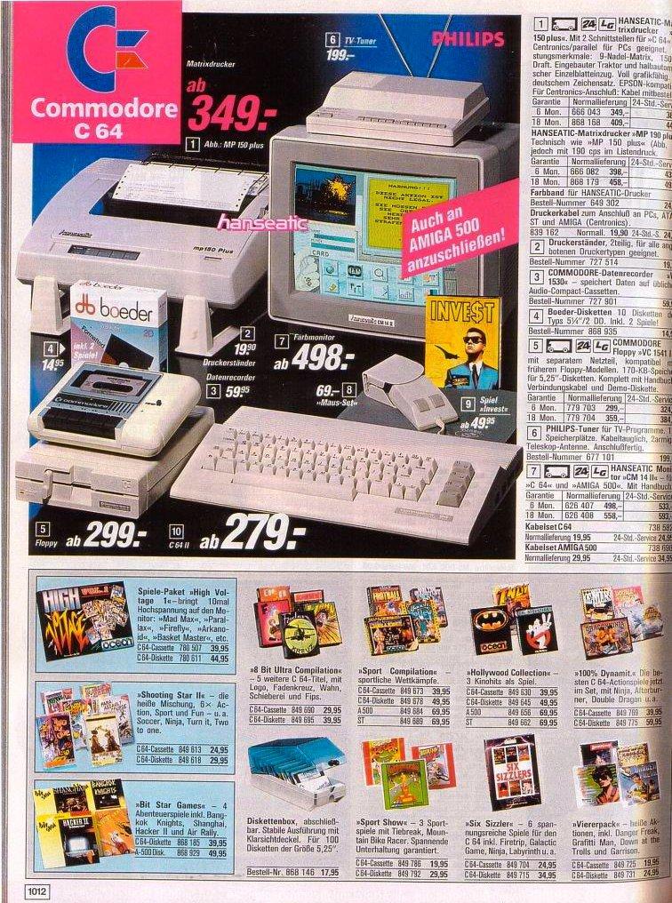 Z katalogu společnosti OTTO GmbH & Co KG z 80. let, via videospielgeschichten.de
