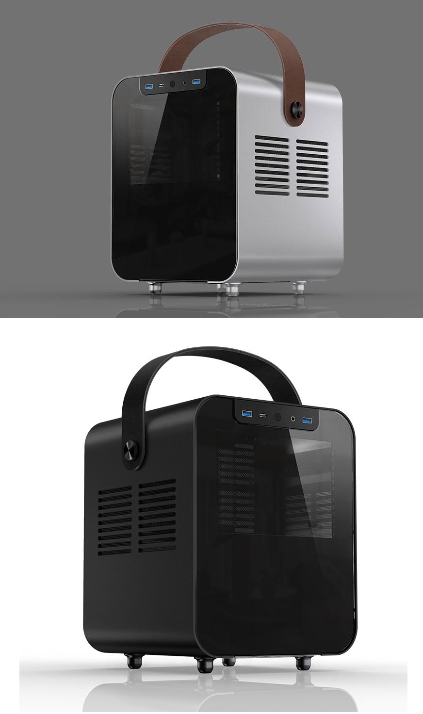 Jonsplus BO100 připomíná reproduktor, je to ale skříň na LAN párty bez ostudy