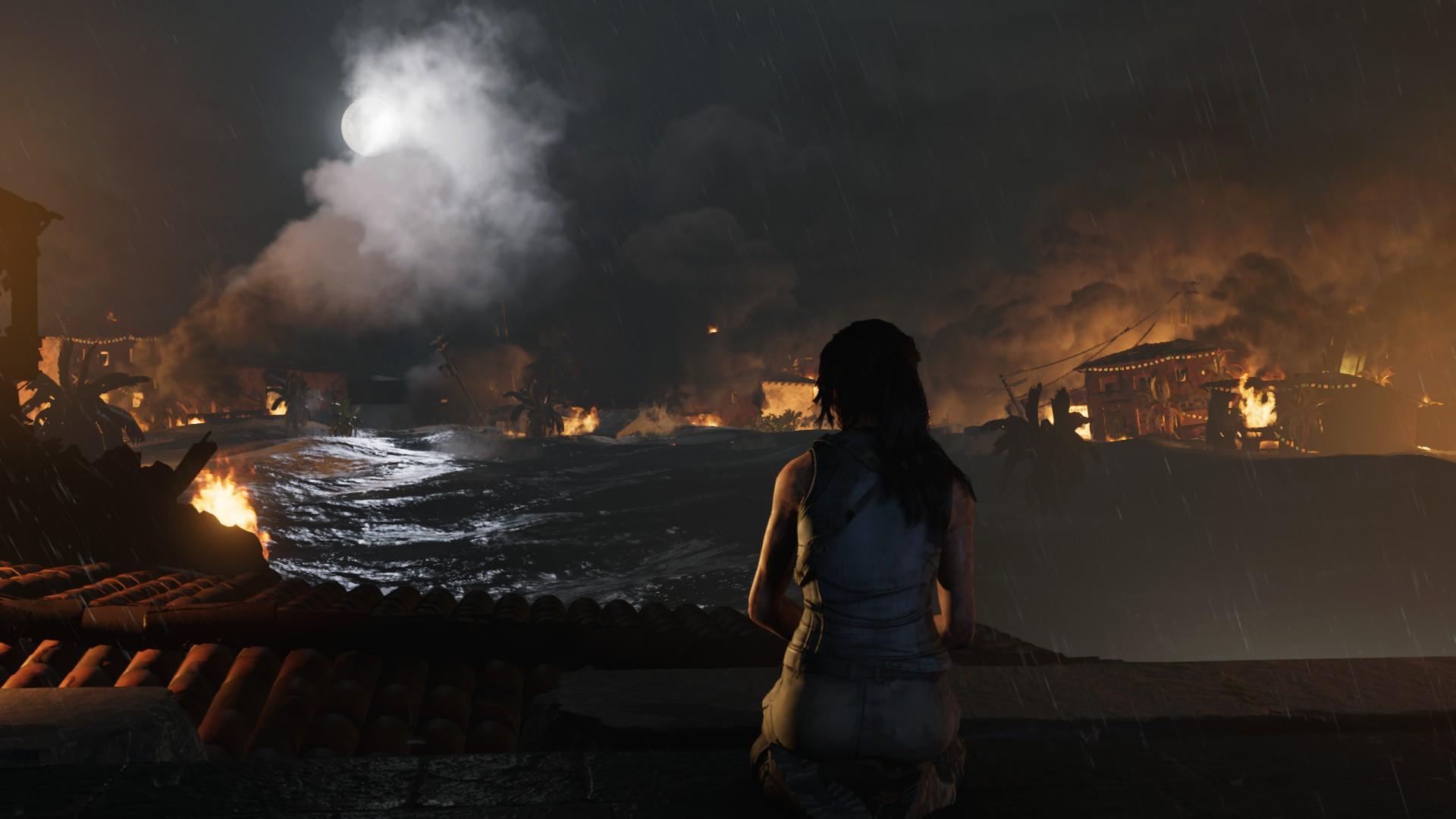 Hra světla a stínu jde Shadow of the Tomb Raider skvěle i bez ray tracing.