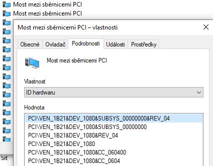 Identifikace zařízení ve Windows