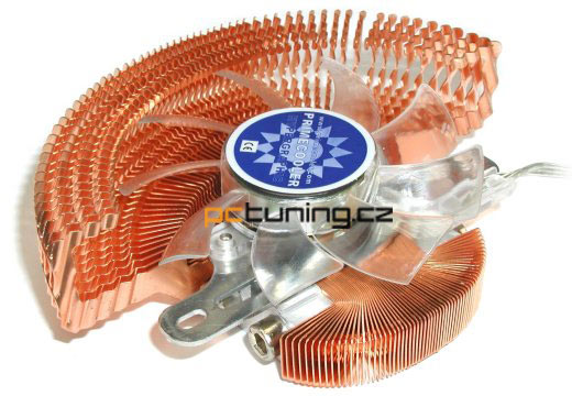 Teplota jádra při frekvenci 425MHz s chladičem Primecooler.