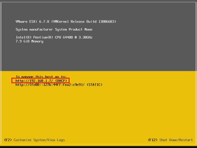 IP adresa, kde je dostupná administrace serveru.