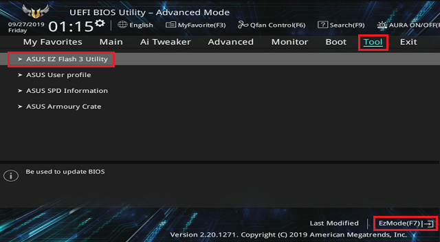 Update BIOS ASUS TUF GAMING X570-PLUS