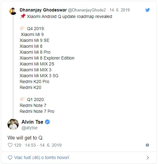Seznam telefonů Xiaomi, které dostanou Android Q