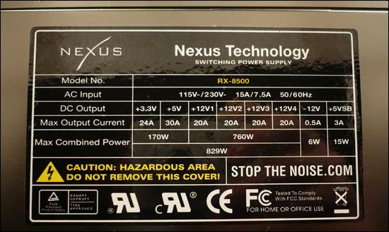 Nexus RX-8500 - 850 Wattů pod kapotou!
