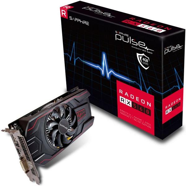 Grafická karta AMD RX 560 – Sapphire Radeon PULSE RX 560 OC