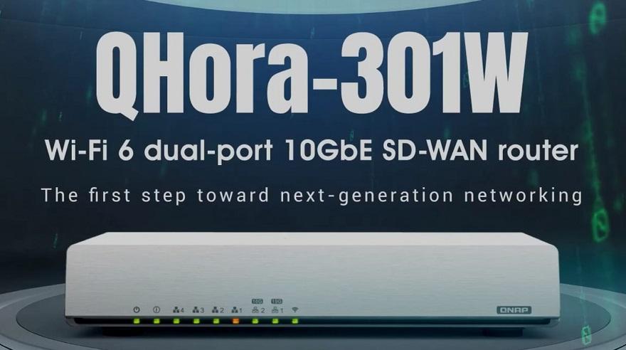 QNAP QHora-301W: router SD-WAN nové generace se dvěma porty 10GbE a Wi-Fi 6