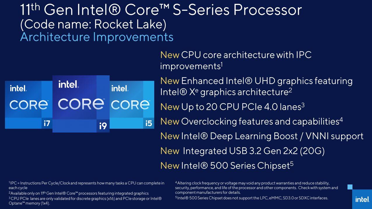 Intel láká na možnosti Rocket Lake, opět nový čipset!