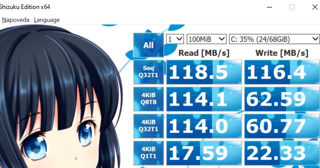 Testy výkonu Initiatoru na Windows 10