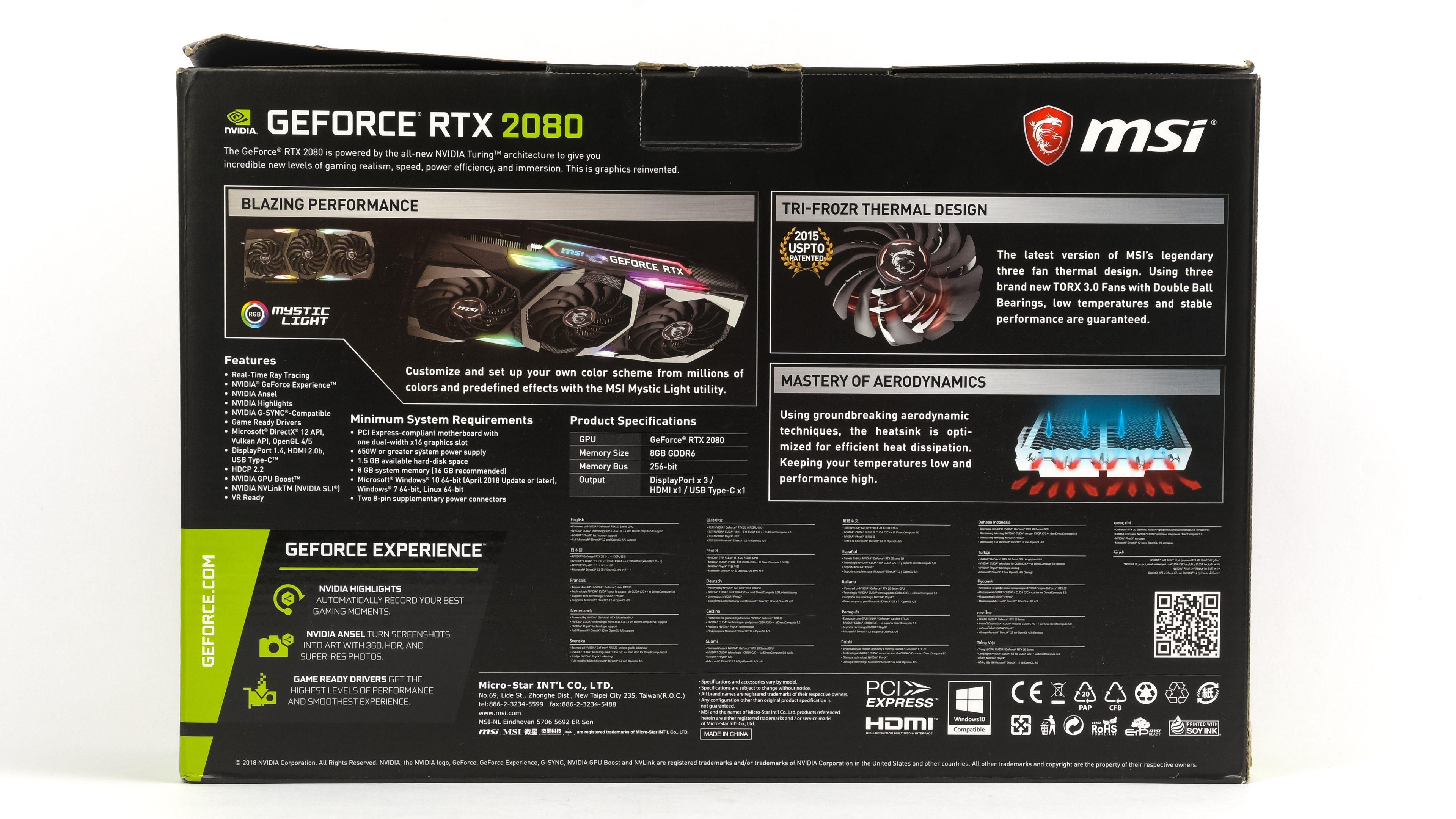 Test MSI GF RTX 2080 Gaming X: Zrak vám bude přecházet