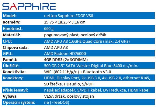Sapphire EDGE VS8 – nadupaný herní nettop?