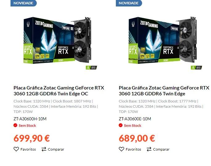 Ceny GeForce RTX 3060 astronomicky rostou