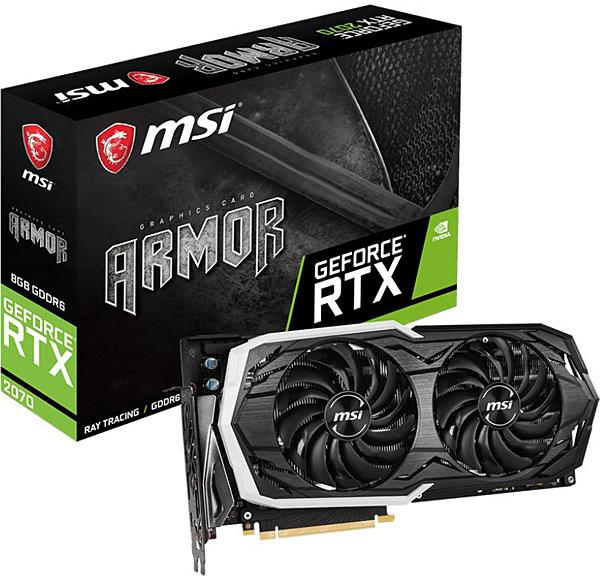 Grafická karta nVidia GeForce RTX 2070 – MSI GeForce RTX 2070 ARMOR 8G
