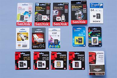 Test 64GB karet SD: 4× SDXC a 10× MicroSDXC