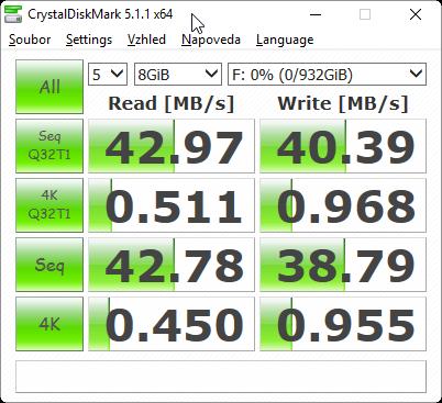 CrystalDiskBenchmark 5.1.1 test USB 2.0
