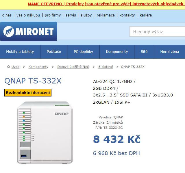 NAS QNAP TS-332X (varianta 2GB)
