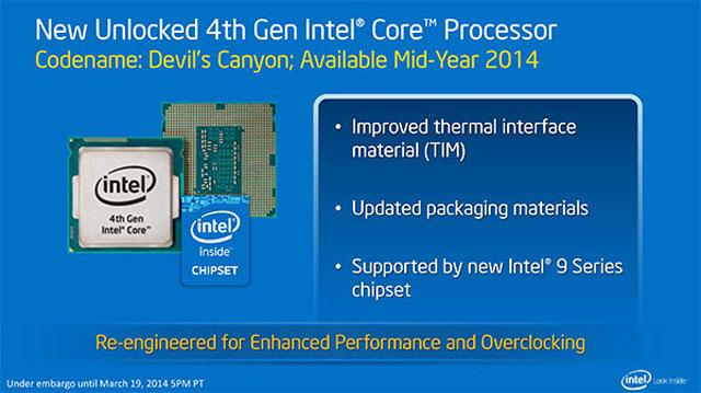 """Prodej quad-core procesorů Intel Core i7 a Core i5 série """"Devil's Canyon"""" začne za 20 dní"""