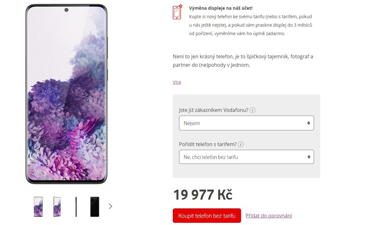 Samsung Galaxy S20+ nestojí ani 20 tisíc, ale jen u Vodafonu