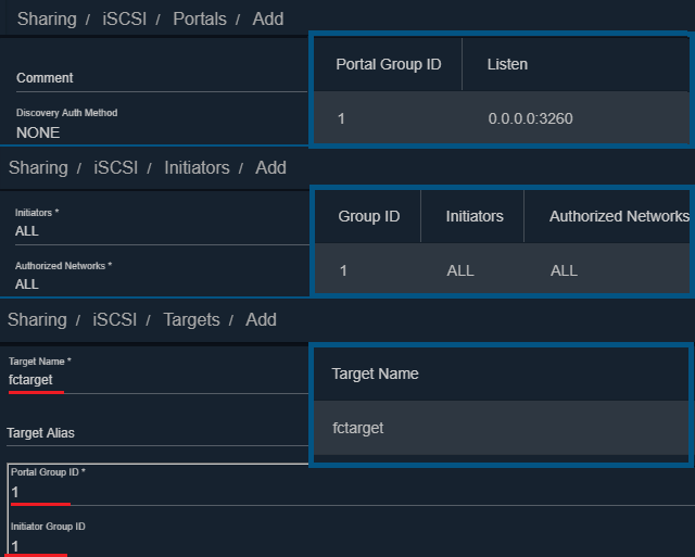Zakládání portálu, targetu a ověření.