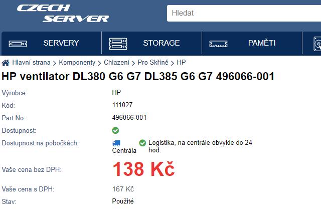 Ventilátory CPU z obchodu Czech-Server