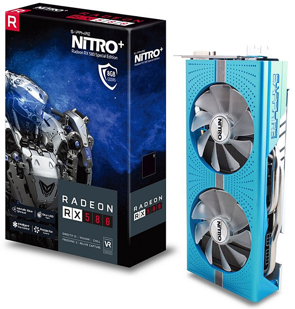 Grafická karta AMD Radeon RX 580 – Sapphire Radeon NITRO+ RX 580 8GD5 Special Edition