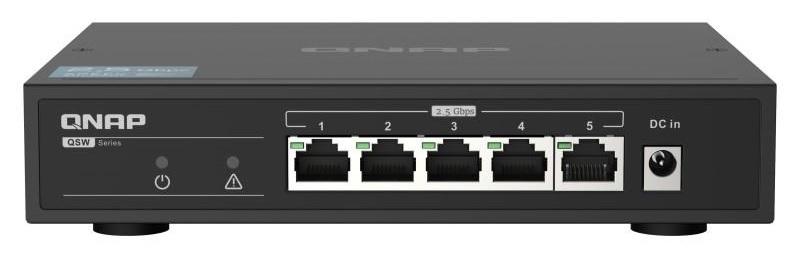 QNAP představuje svůj první síťový 2,5GbE switch