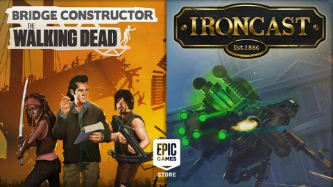 Stahujte zdarma z Epic Games Store: Bridge Constructor: The Walking Dead a Ironcast