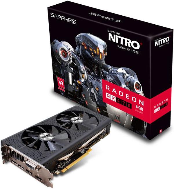 Grafická karta AMD Radeon RX 470 – Sapphire NITRO+ Radeon RX 470 8G D5