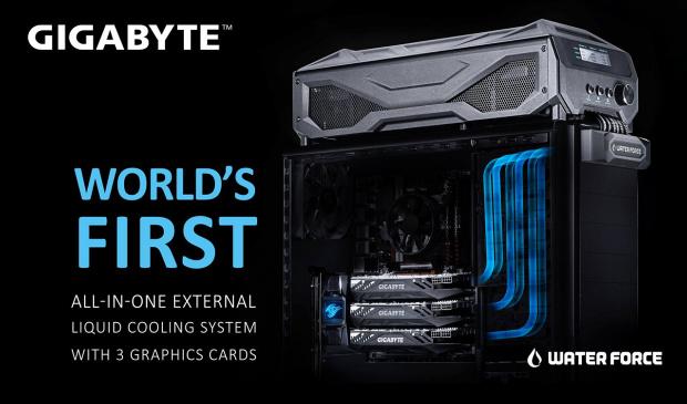 Gigabyte GTX 980 WaterForce: Systém tří grafik za 70 000!