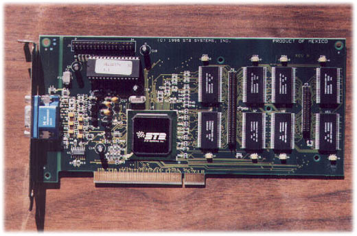 STB Velocity 3D - S3 Virge VX (VRAM)STB poskytovalo 10ti letou záruku, kartu lze rozšířit na 8MB (z4MB)- zdroj: http://www.acecmt.com/ -