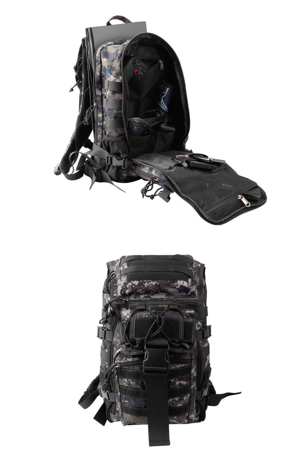 Genesis Pallad 450 Camo: herní batoh ve vojenském stylu