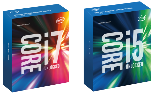 Barevné krabičky na procesory rodiny Intel Skylake