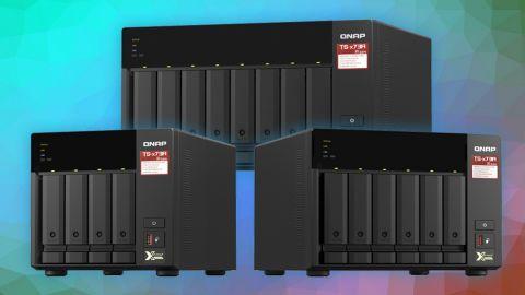 QNAP TS-x73A má čtyřjádrový procesor AMD Ryzen a dva porty 2,5GbE