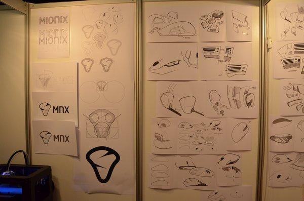 Návrhy loga i produktů Mionix.