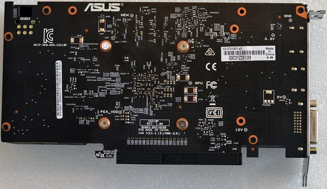ASUS EX-GTX1050Ti-4G zezadu