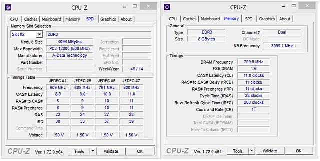 Duel DDR3 2× 4 GB: ADATA Premier vs. G.Skill RipjawsX