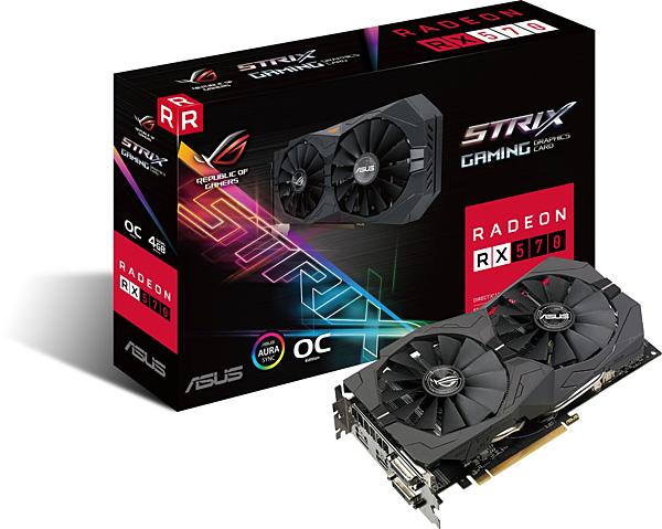 Grafická karta AMD Radeon RX 570 – ASUS Radeon ROG-STRIX-RX570-O4G-GAMING