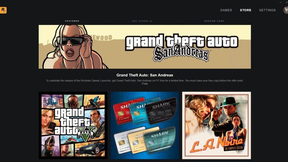 Rockstar příchází s vlastním obchodem, rozdává GTA: San Andreas zdarma