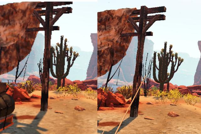 Vlevo obraz Vive a napravo Vive Pro (Arizona Sunshine)
