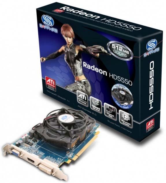 Sapphire rozšiřuje řadu Radeonů HD 5550