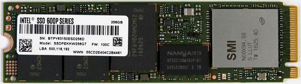SSD disk Intel SSD 600p (M.2) – 256GB