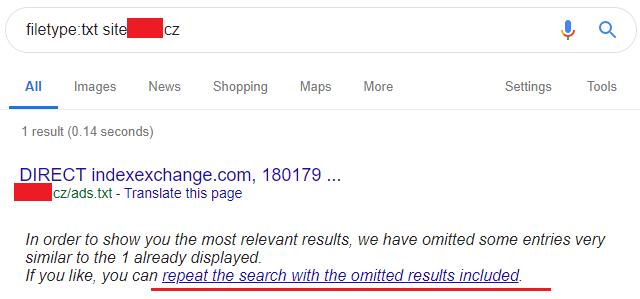 Hledání specifického typu souboru