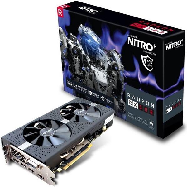 Grafická karta AMD Radeon RX 580 – Sapphire Radeon NITRO+ RX 580 4G