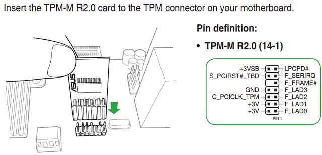 Instalace TPM modulu