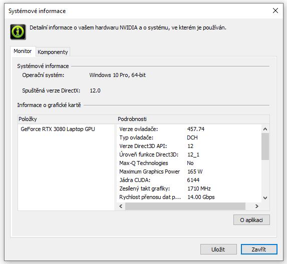 GeForce RTX 3080 Mobile (165 W)