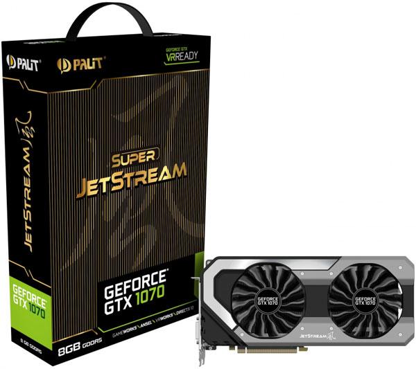 Grafická karta nVidia GeForce GTX 1070 – PALiT GeForce GTX 1070 JetStream 8GB