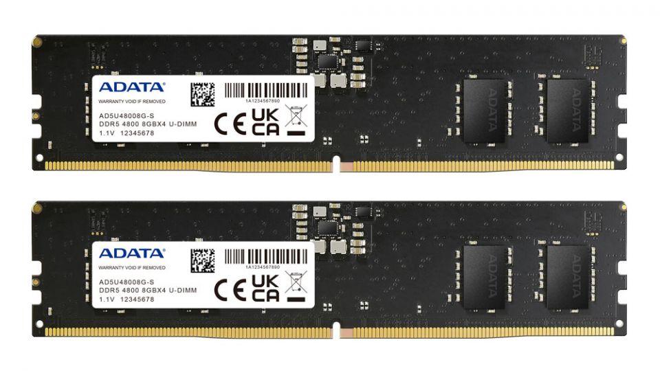 ADATA představila svůj první paměťový modul DDR5