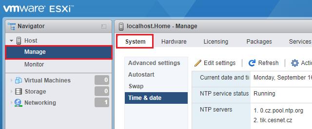 Nastavte servery pro synchronizaci času